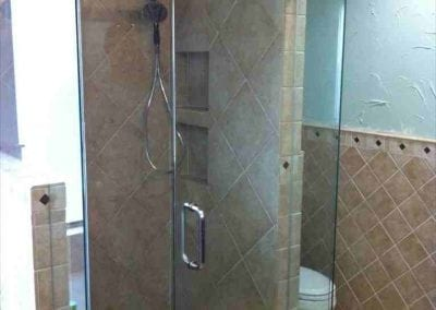Frameless Shower Clear Glass Brushed Nickel hardware 3
