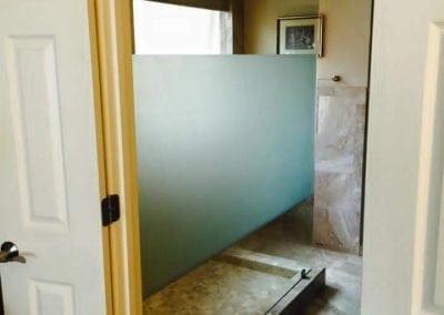 Frameless Shower Clear Glass Saten Stripe Walk in shower