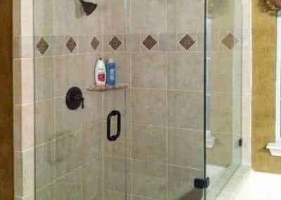 Frameless Shower Oil rubbed bronze Clear glass