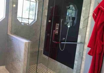Frameless shower chrome hardware